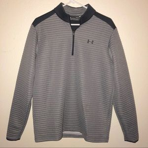 UNDER ARMOUR quarter zip coldgear pullover sweater
